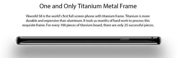 Vkworld S8 titanium keret