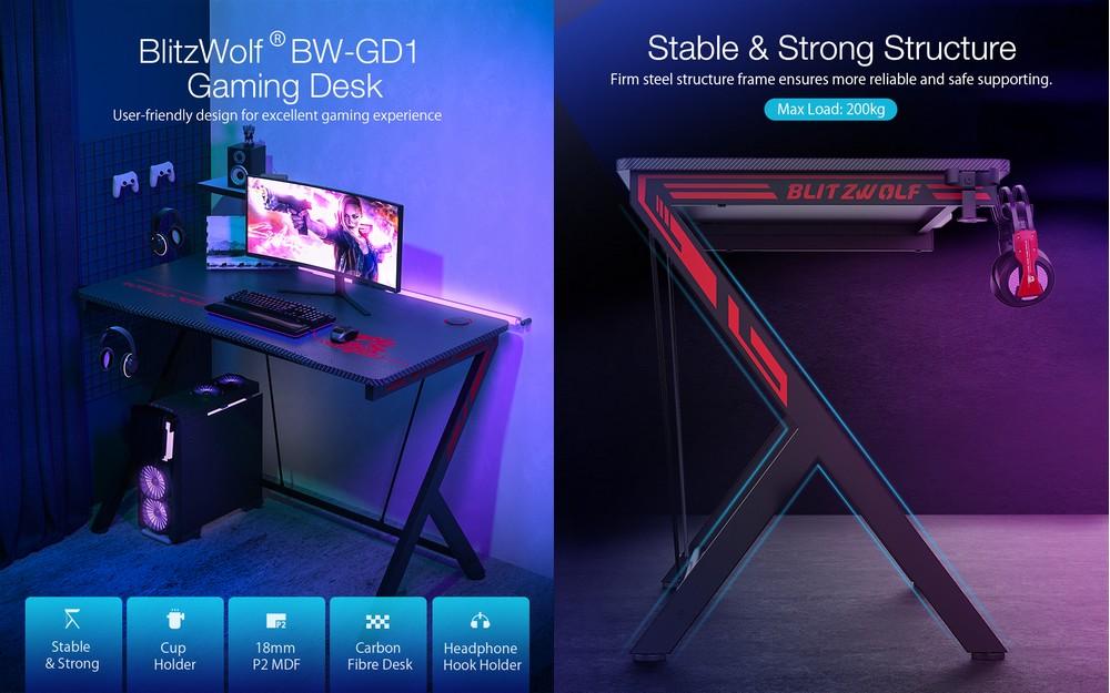 Blitzwolf BW-GD1 számítógépasztal