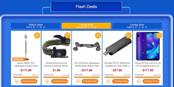 GeekBuying akciók - Flash Deals