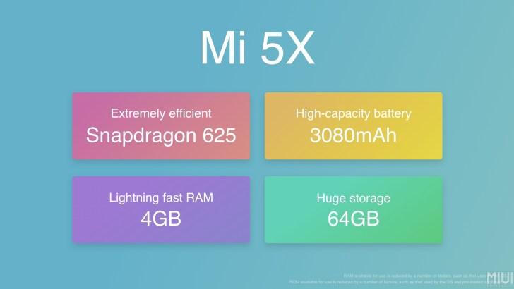 Xiaomi Mi5X tulajdonságok