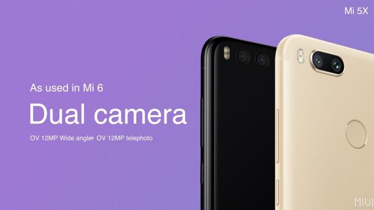 Xiaomi Mi5x dupla kamera