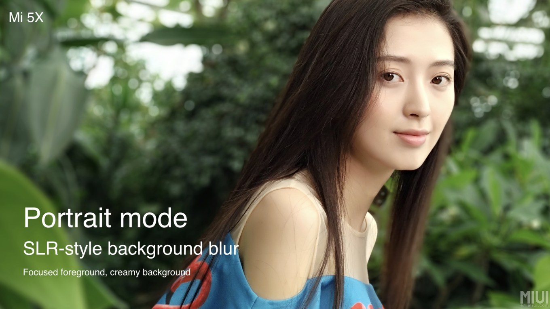 Xiaomi Mi5x portré mód