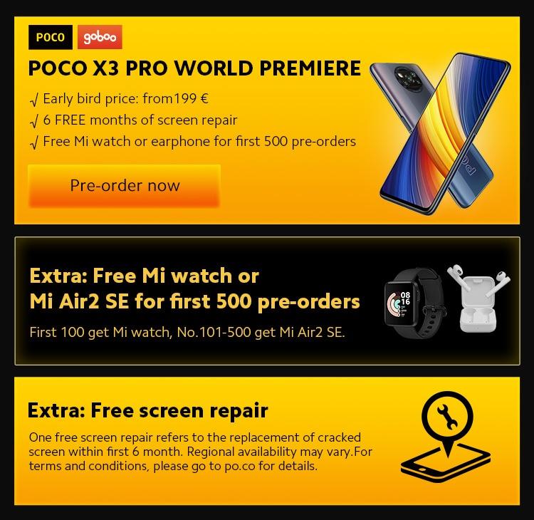 POCO X3 Pro - Rendelés - Akciók