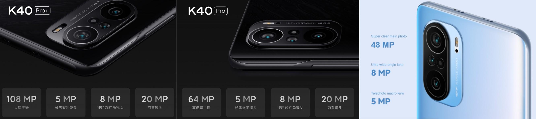 Redmi K40 - Redmi K40 Pro - Redmi K40 Pro+ kamerák