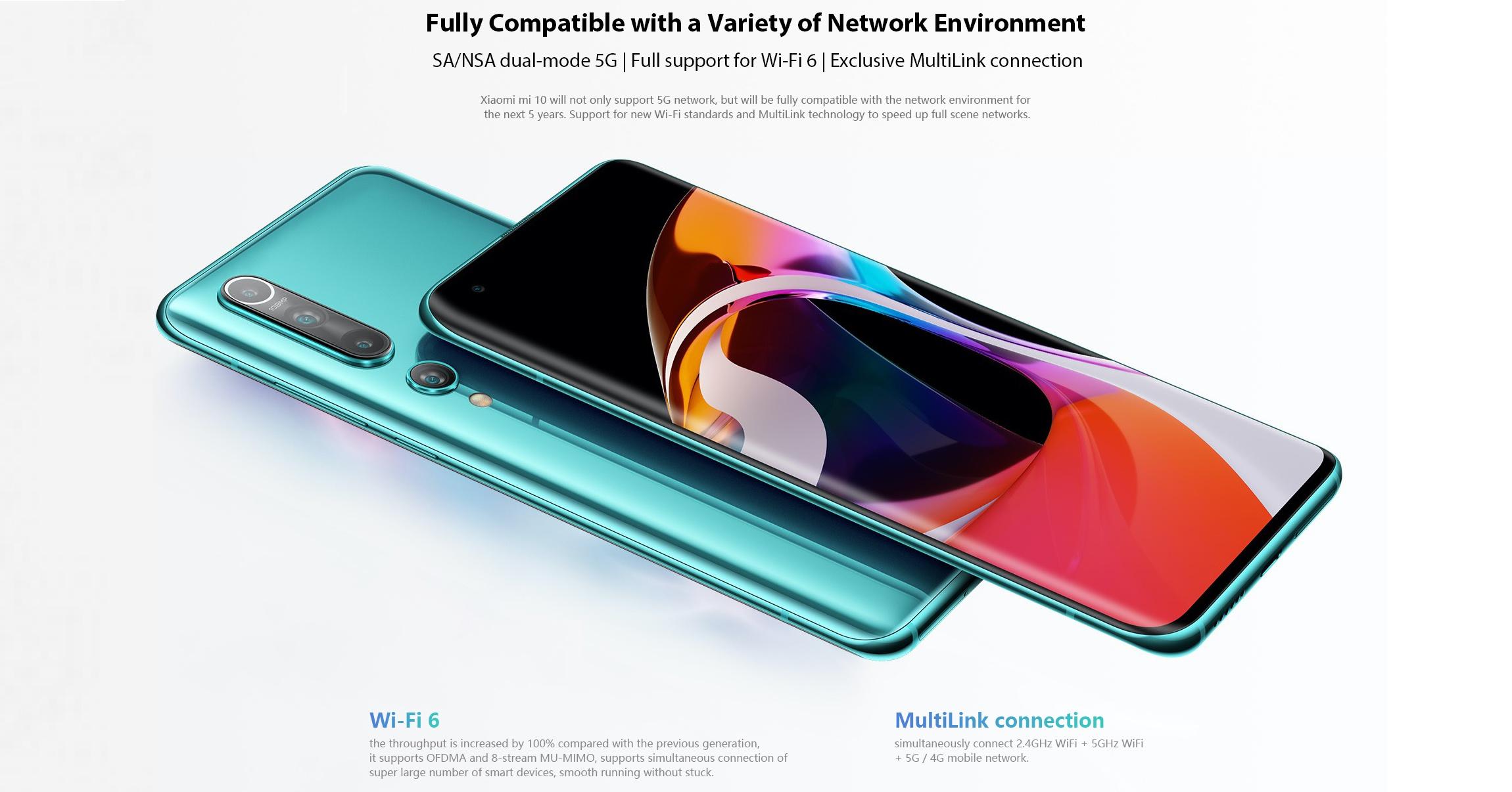Xiaomi Mi 10 - 5G - Wifi 6