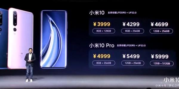 Xiaomi Mi 10 árak