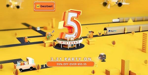 GearBest 5. születésnap