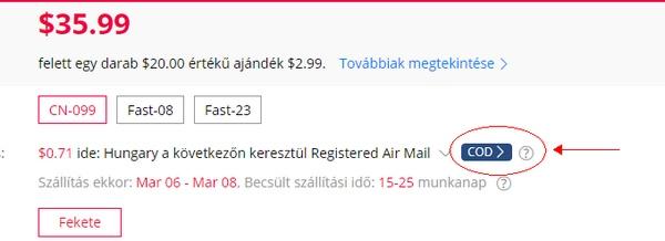 GearBest utánvétes fizetés