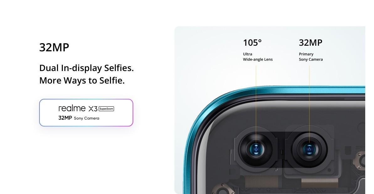 Realme X3 SuperZoom - Dupla előlapi kamera