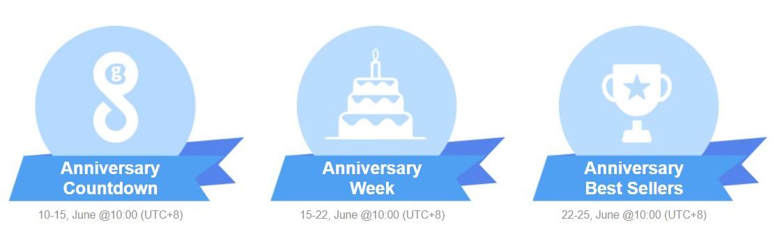 GeekBuying születésnapi hetek