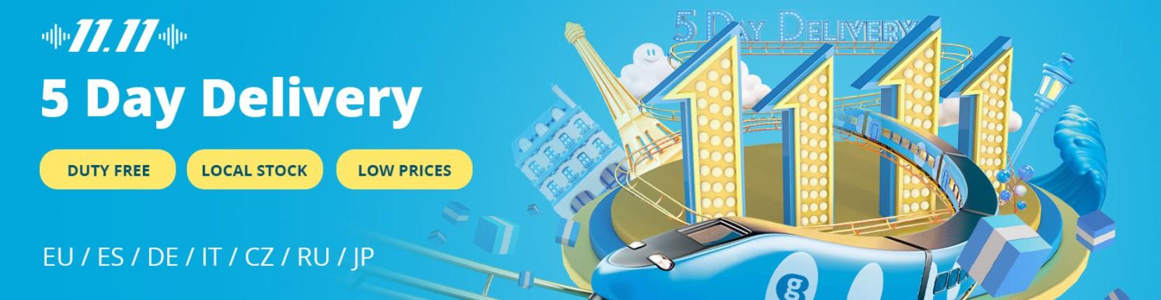 GeekBuying - 11.11 EU raktáras akciók