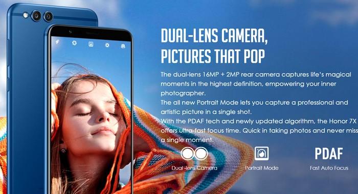 Huawei Honor 7X kamera