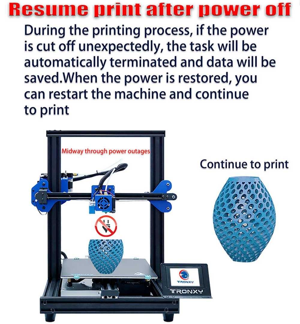 Tronxy - Automatikus nyomtatás folytatás