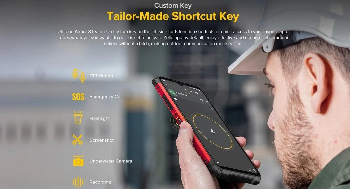 Ulefone Armor 8 - Zello - Walkie-talkie