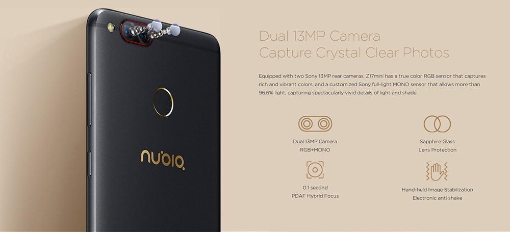 Nubia Z17 Mini kamera