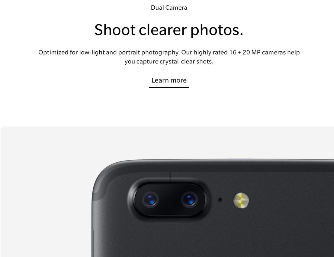 OnePlus 5T kamera