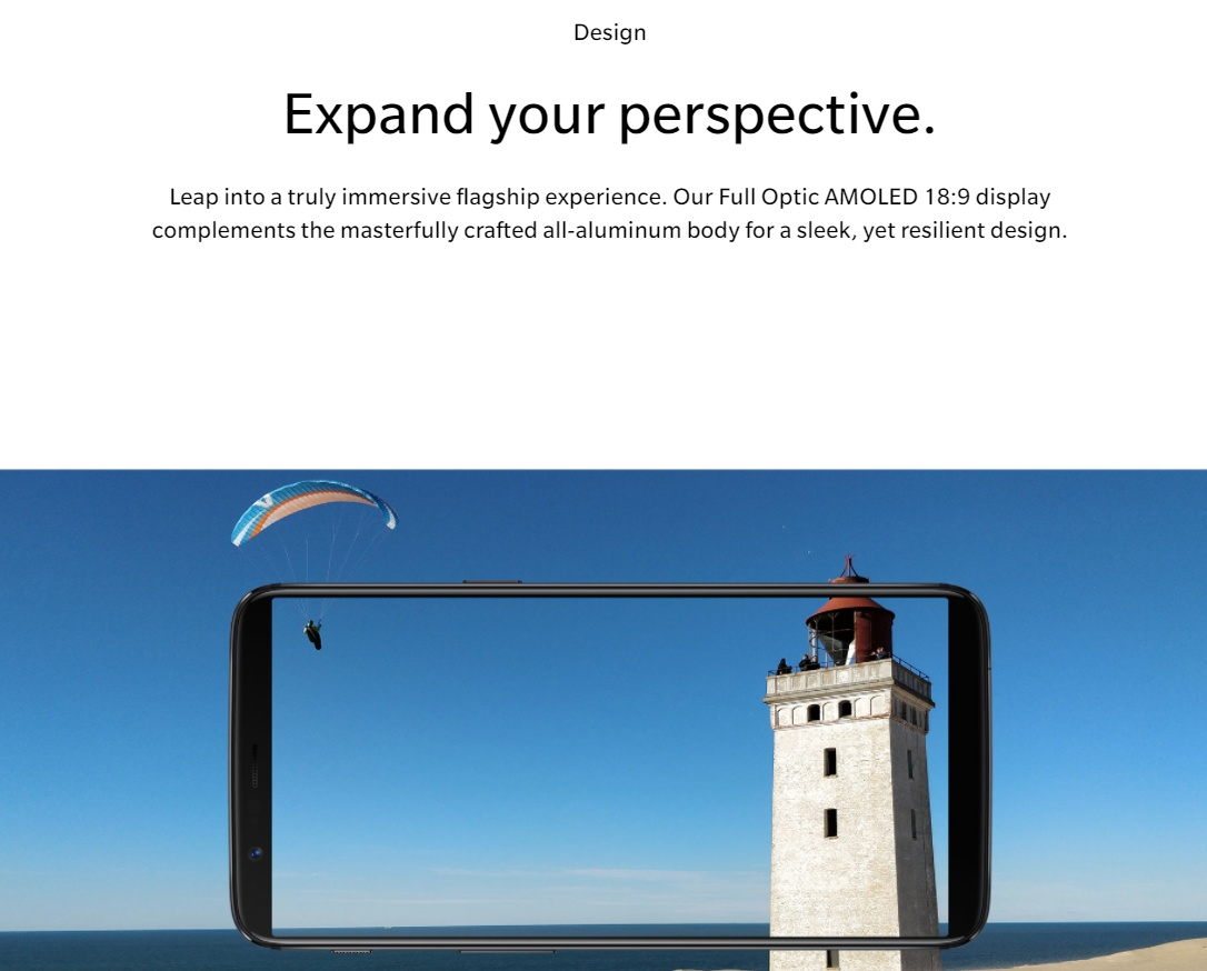 OnePlus 5T kijelző