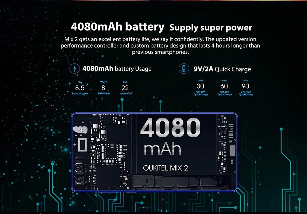 Oukitel Mix 2 akkumulátor