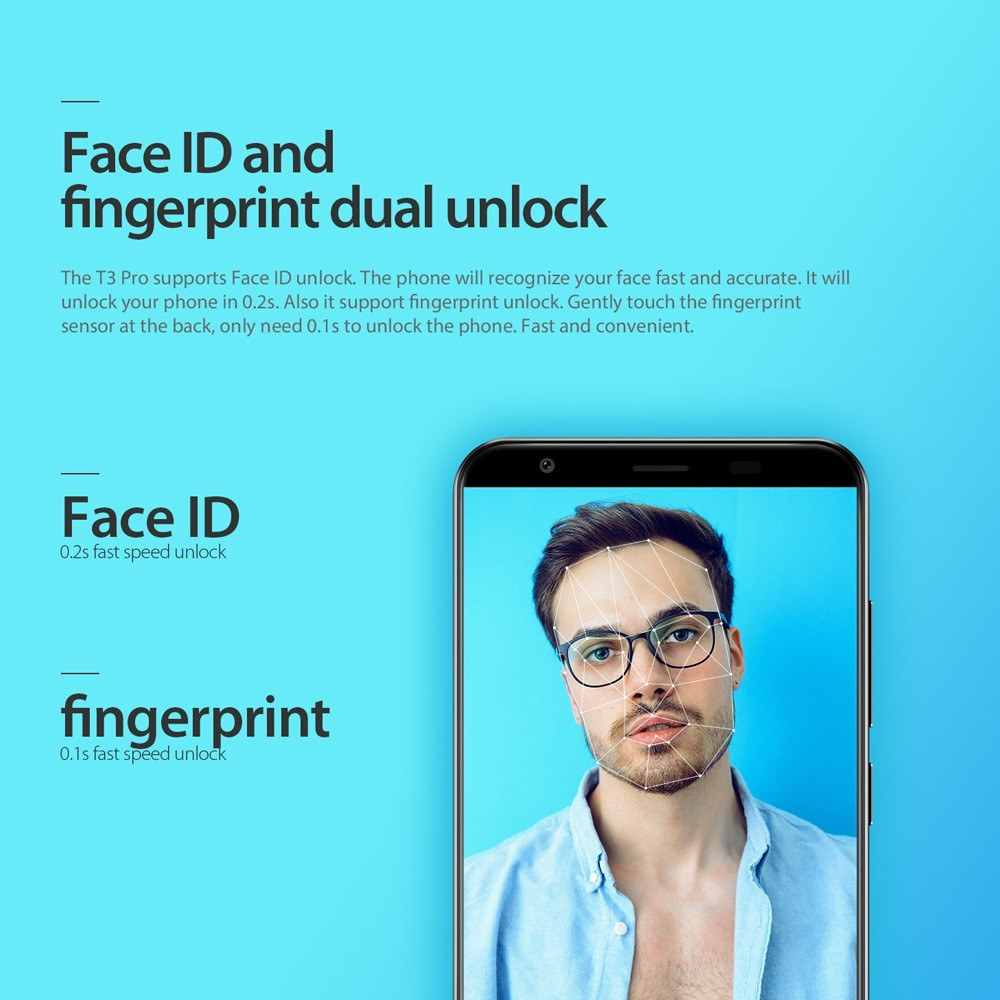 Vernee T3 Pro Face ID