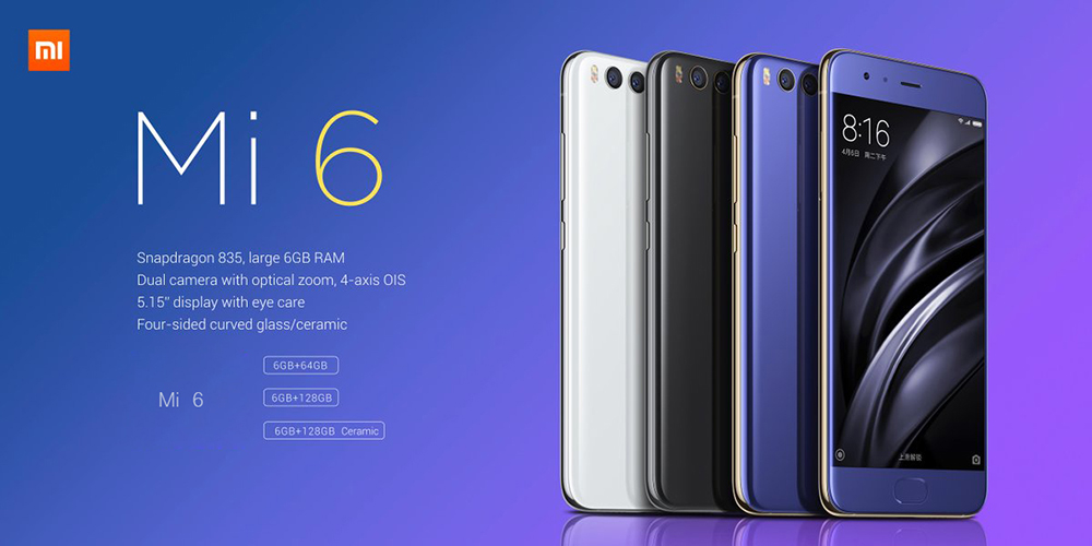 Xiaomi Mi6 telefon