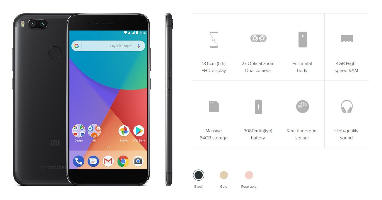 Xiaomi Mi A1 tulajdonságok