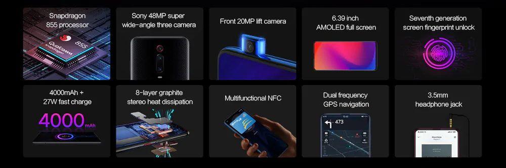 Xiaomi Mi 9T Pro tulajdonságok