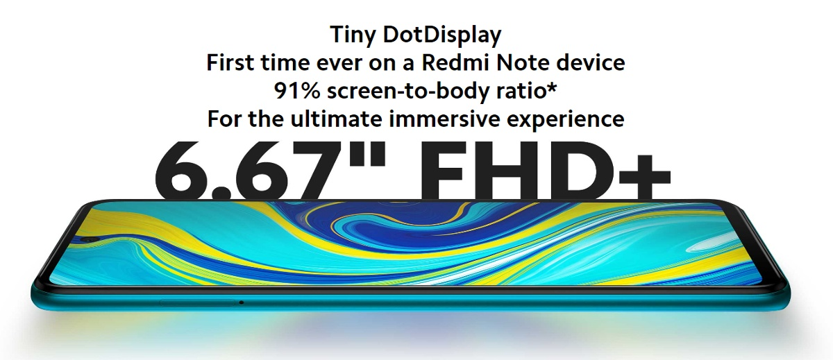 Redmi Note 9S kijelző