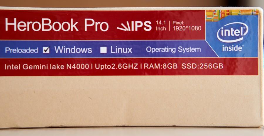 Chuwi HeroBook Pro - Doboz 2
