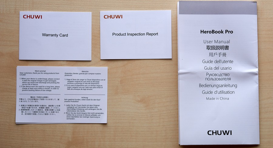 Chuwi HeroBook Pro - Leírások