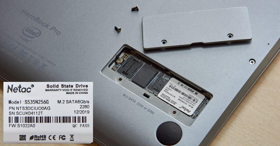 Chuwi HeroBook Pro - M.2 SSD