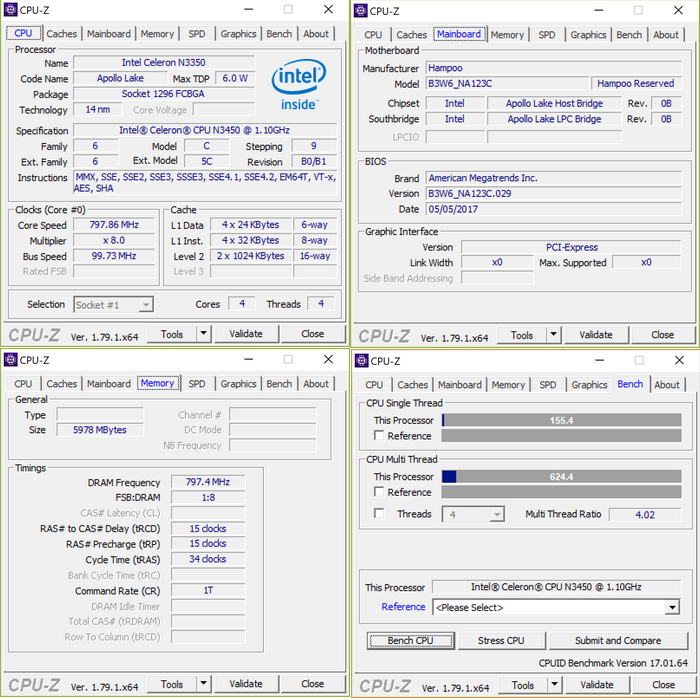 Chuwi LapBook 12.3 CPU-Z