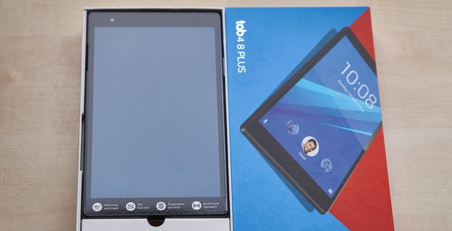 Lenovo Tab4 8 Plus teszt - dobozban