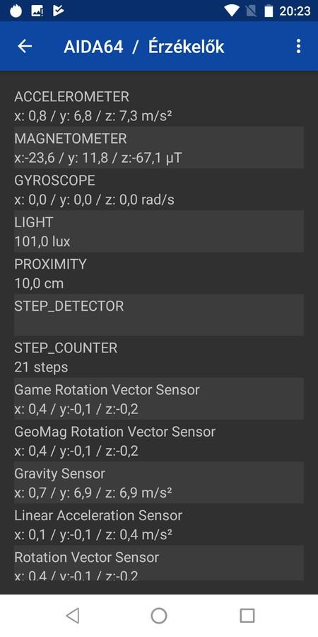 Oukitel K10 - érzékelők, szenzorok
