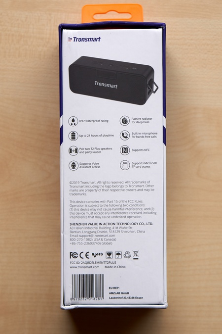 Tronsmart Element T2 Plus doboz